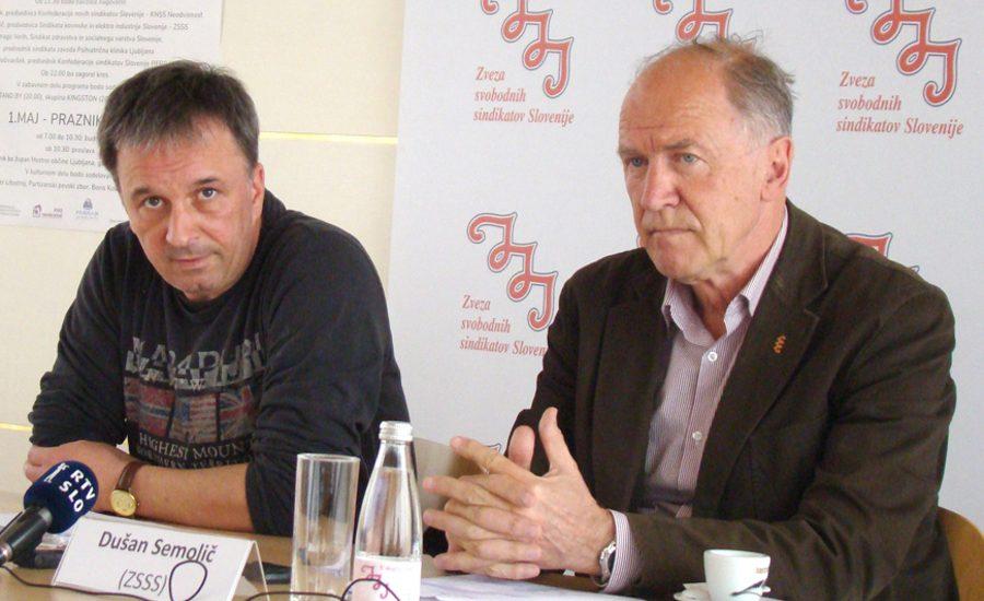 Neutemeljena pričakovanja premiera Mira Cerarja sta kritizirala izvršni sekretar ZSSS Andrej Zorko in predsednik ZSSS Dušan Semolič